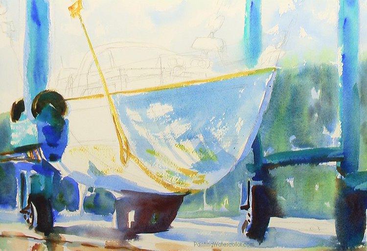 Hinckley Boatyard Painting Tutorial 4