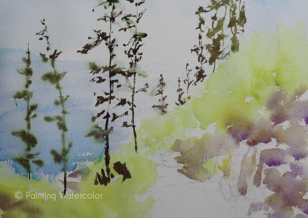 Lighthouse Path Painting Tutorial Painting Tutorial 4