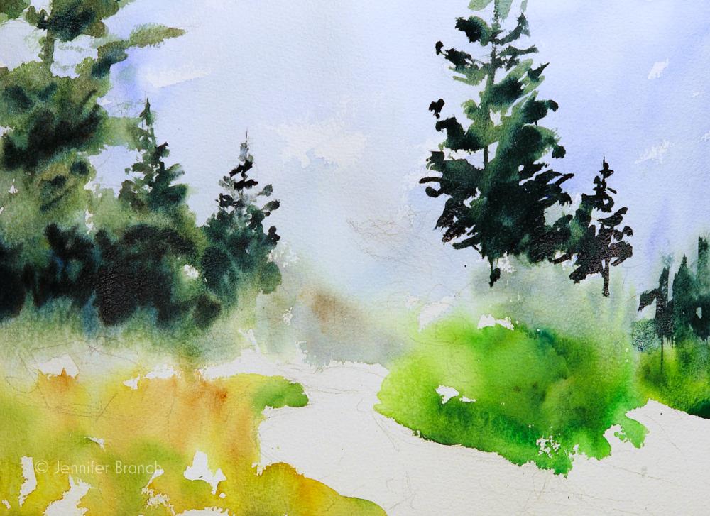 Maine Coast Path Painting Tutorial Watercolor Painting Tutorial 6