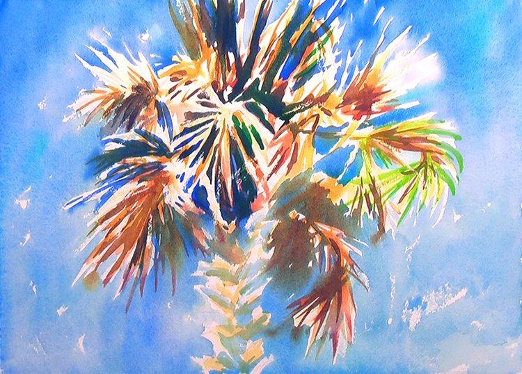 Charleston Palm Tree Painting Tutorial 3