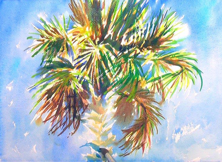 Charleston Palm Tree Painting Tutorial 5