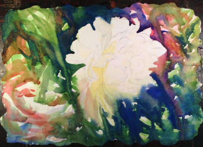 White Peony Painting Tutorial 4