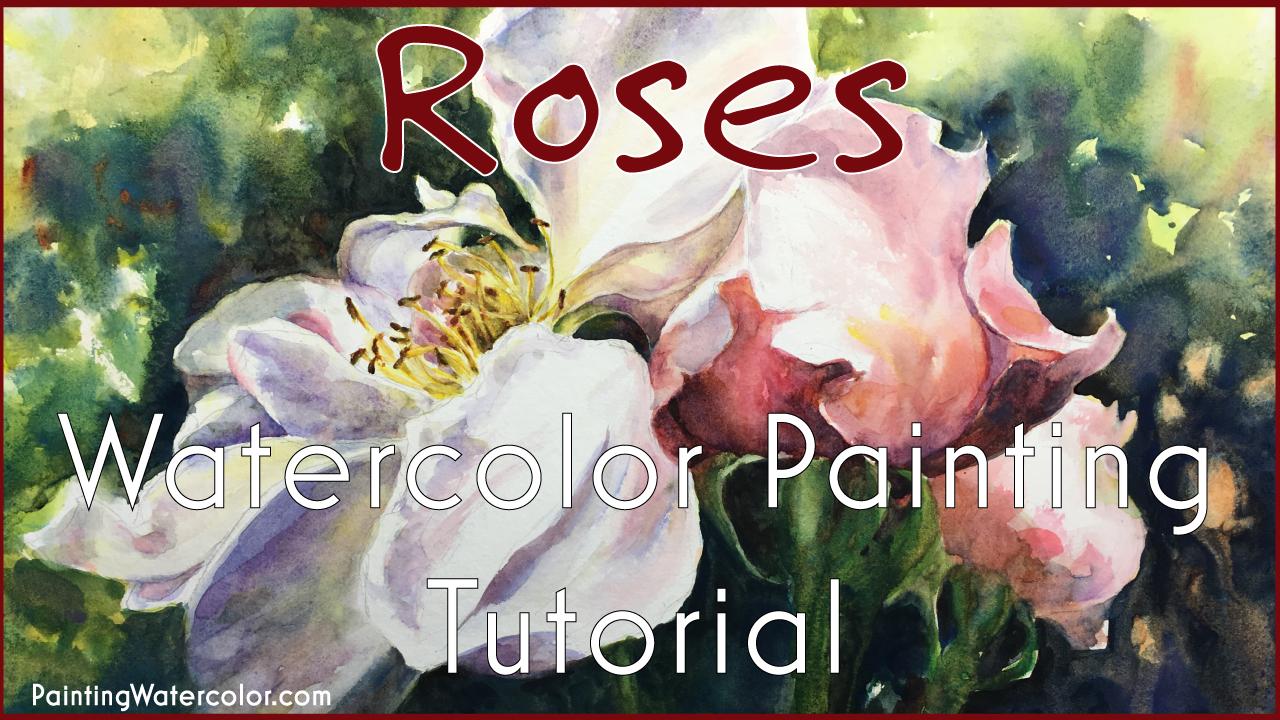 Roses Watercolor Watercolor Painting tutorial