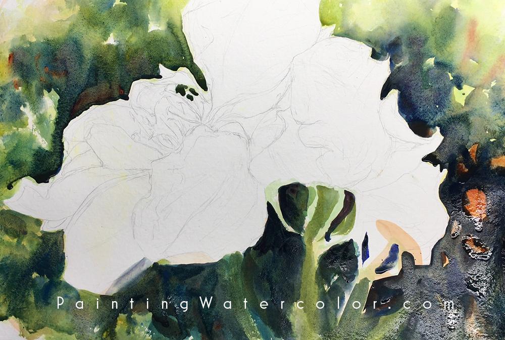 Roses Watercolor Painting Tutorial 3