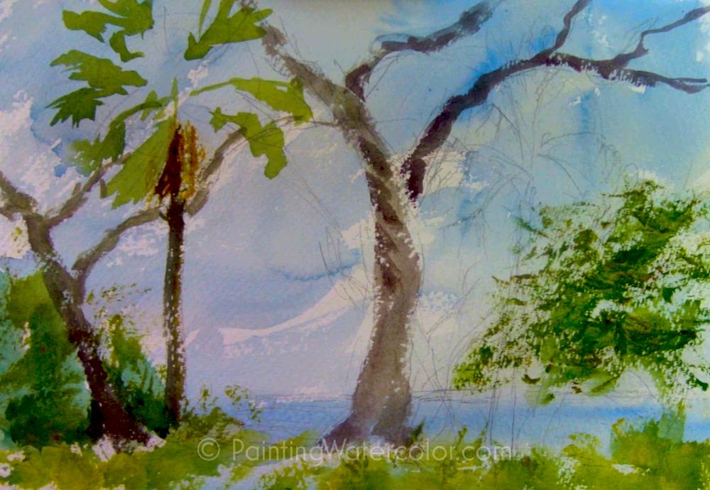 Salt Marsh Sketch Tutorial Painting Tutorial 3
