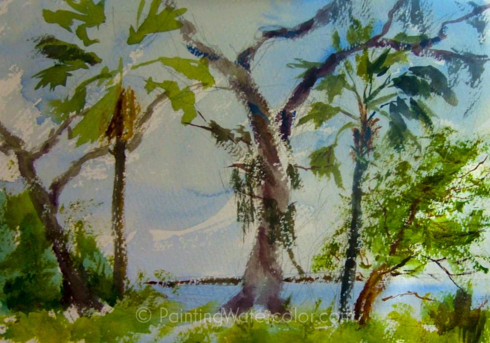 Salt Marsh Sketch Tutorial Painting Tutorial 4