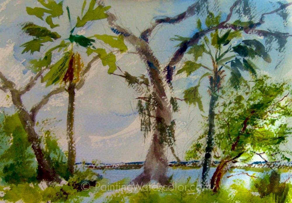 Salt Marsh Sketch Tutorial Painting Tutorial 5