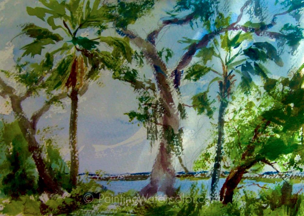 Salt Marsh Sketch Tutorial Watercolor Painting Tutorial 6