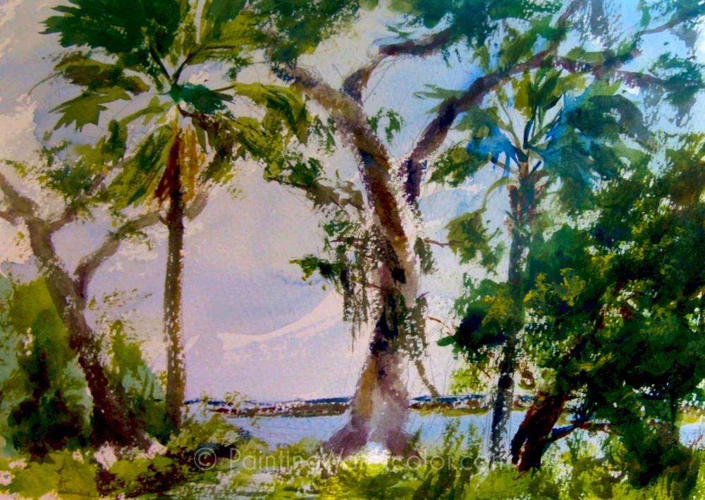 Salt Marsh Sketch Tutorial Watercolor Painting Tutorial 7