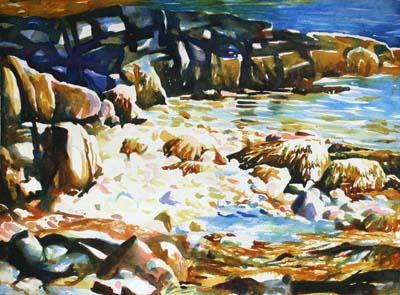 Tidal Pool, Acadia Watercolor Painting Tutorial