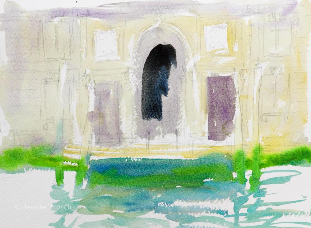 Fountain Pen Sketching Painting Tutorial 3
