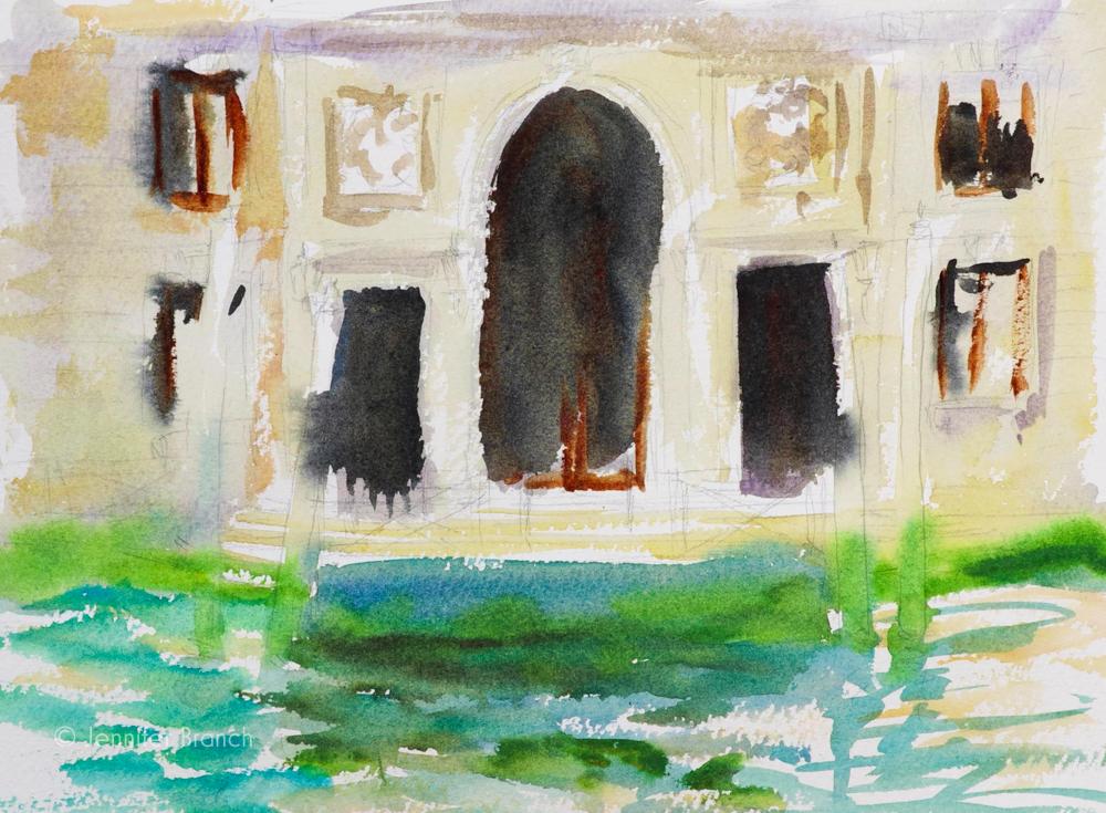 Fountain Pen Sketching Painting Tutorial 5