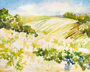 Sonoma Vineyard Painting Tutorial 3
