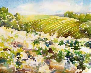 Sonoma Vineyard Painting Tutorial 4