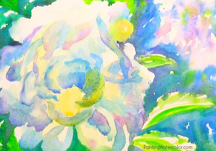 White Peony Painting Tutorial 5