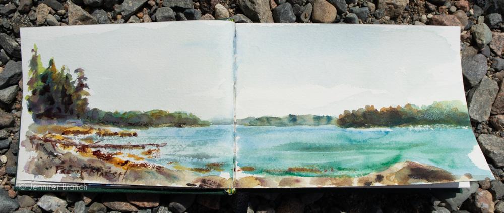 Watercolor Sketch by Jennifer Branch