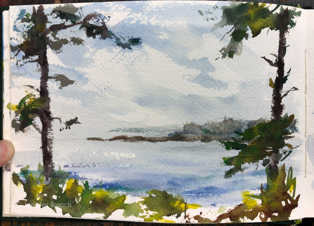 Picnic spot by the side of the Schoodic Park Road by Jennifer Branch