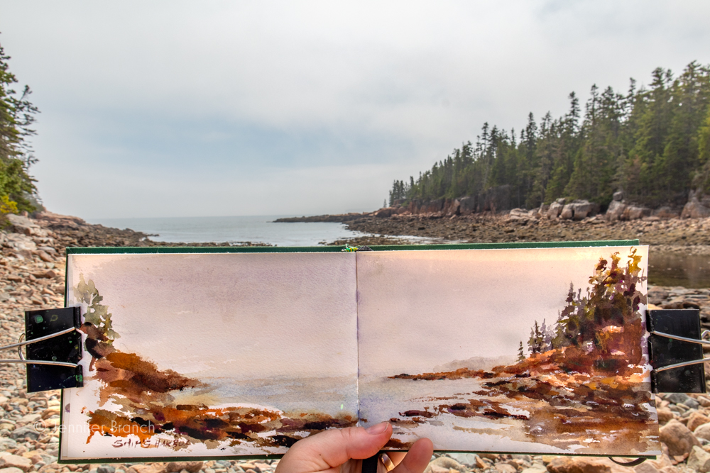 Sketching in Maine by Jennifer Branch