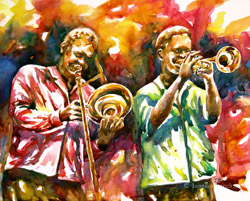 all that jazz watercolor painting