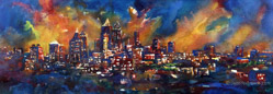 atlanta skyline painting