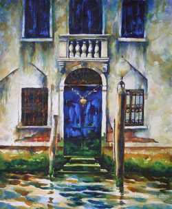 Venice doorway watercolor painting