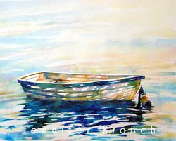 dinghy watercolor painting