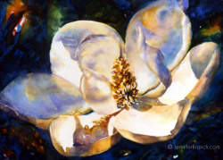Magnolia flower watercolor painting