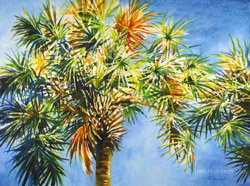 Palm Tree watercolor painting