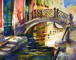 Rio di San Martino watercolor painting