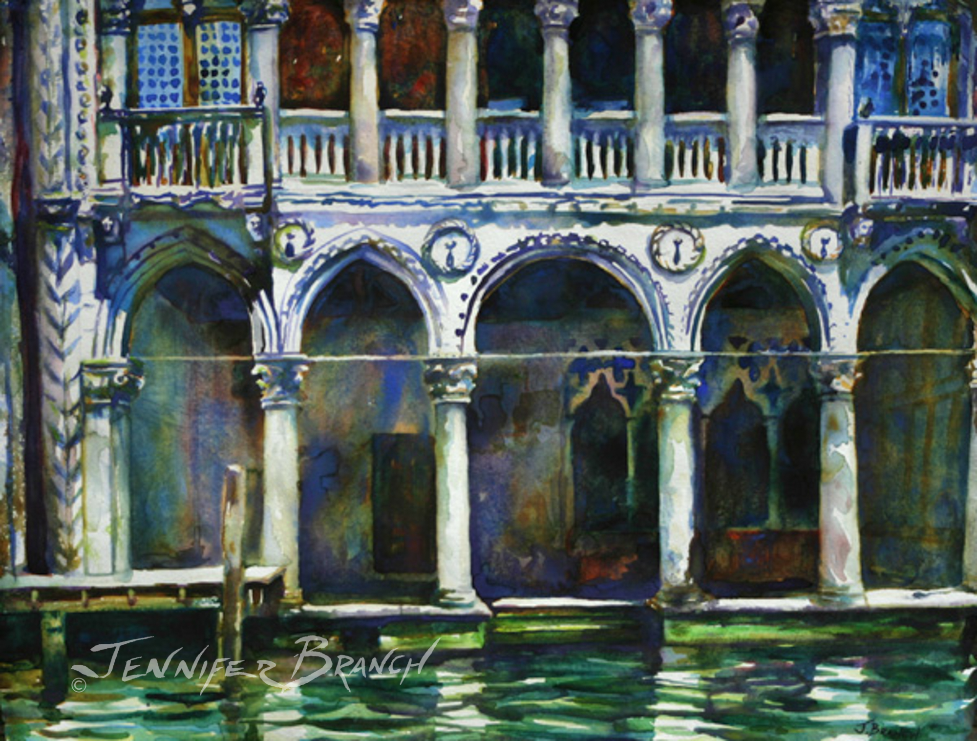 Grand Canal Venice watercolor painting