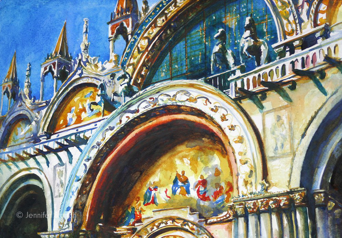 San Marco Venice watercolor painting