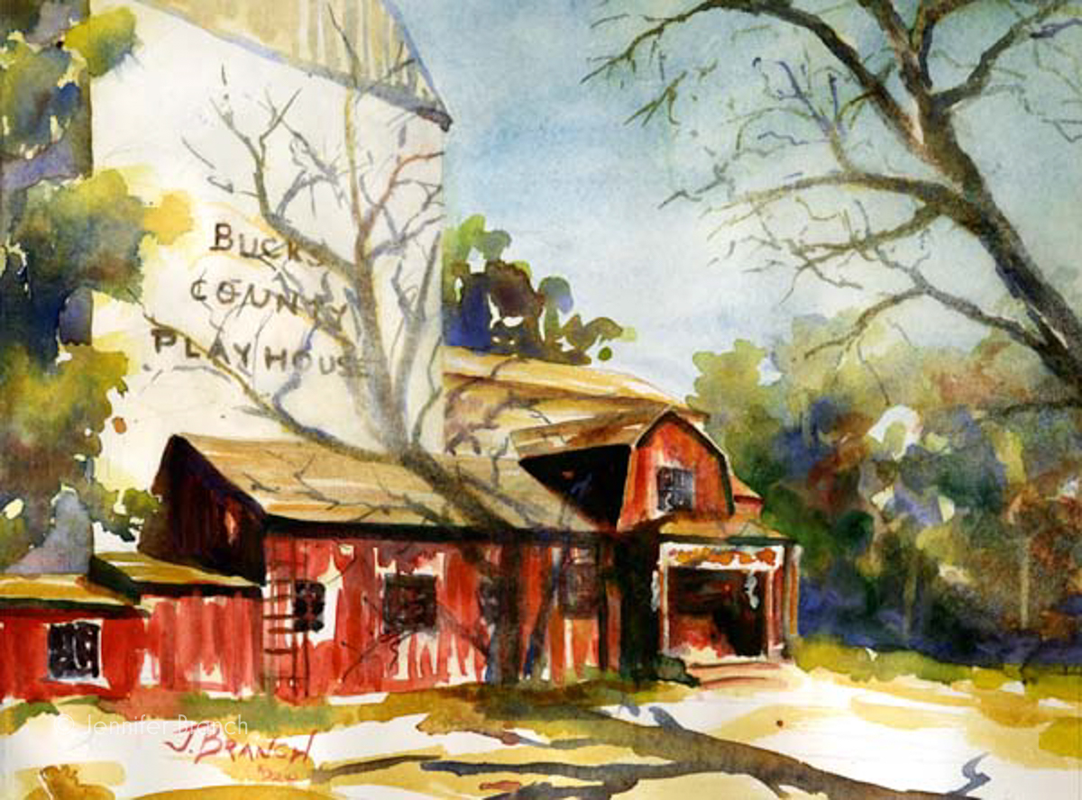 Bucks county playhouse watercolor painting