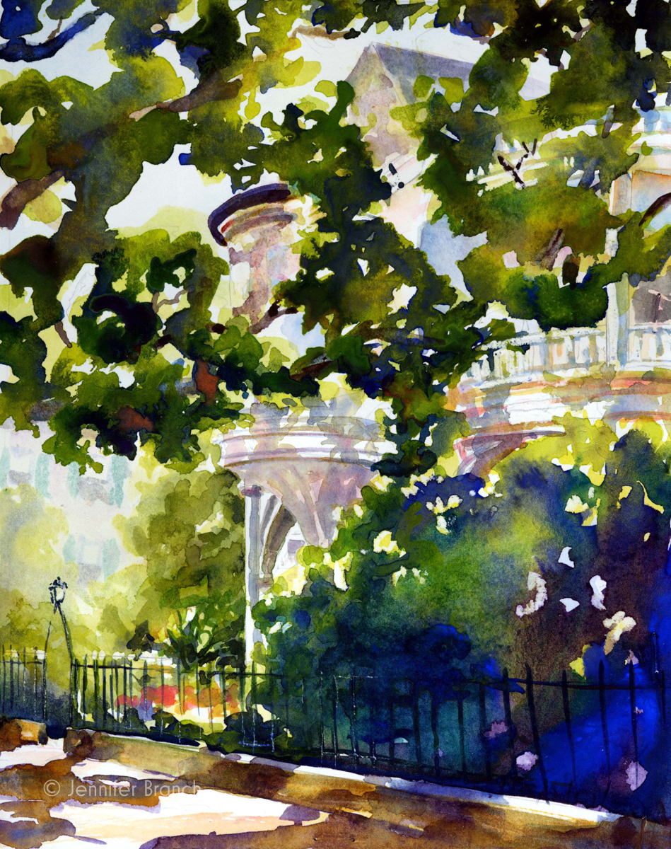 Charleston house watercolor painting