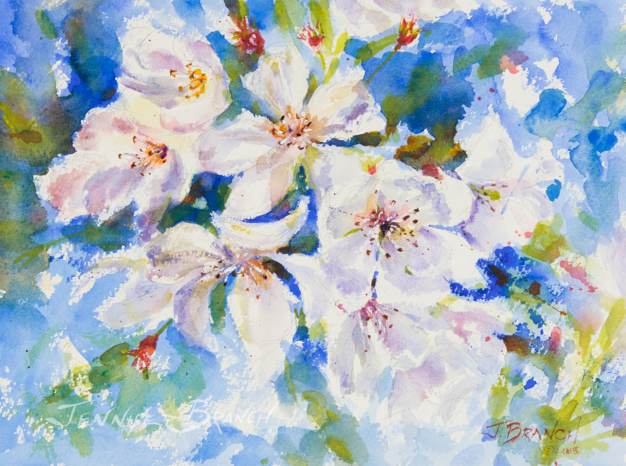 Cherry Blossoms Painting Tutorial watercolor painting tutorial
