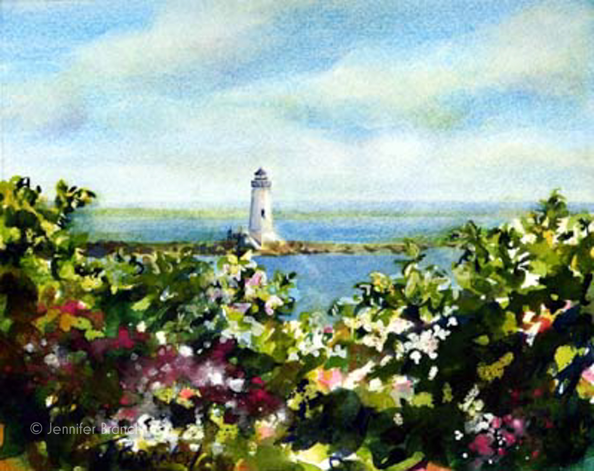 Cockspur Lighthouse painting