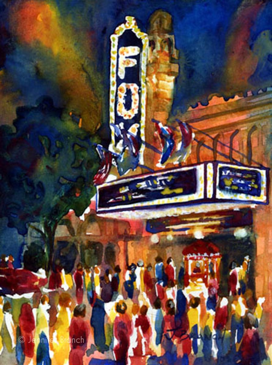 Fox Theater Atlanta Georgia painting by Jennifer Branch