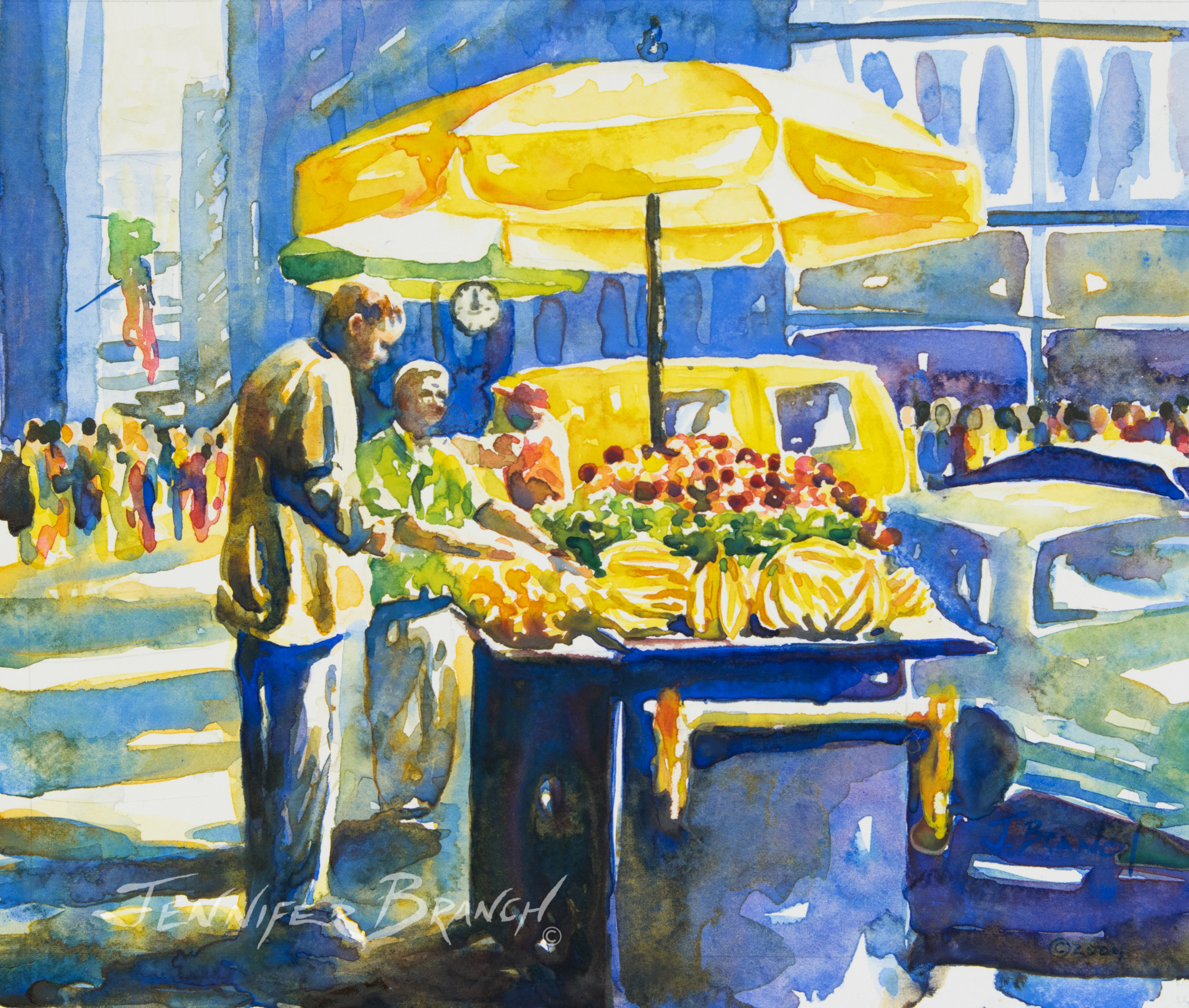 New York fruit stand