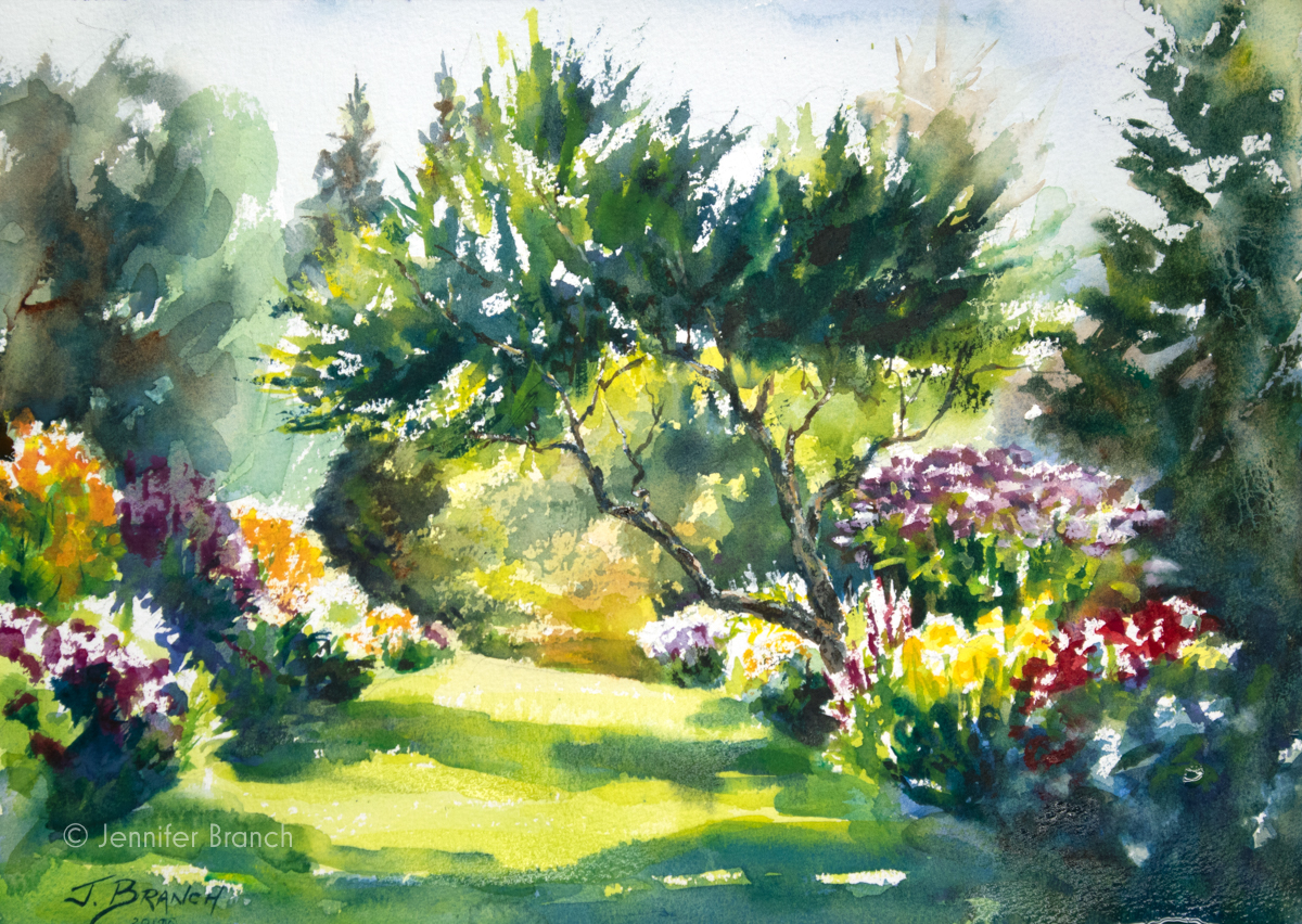 Garden Path Painting Tutorial Watercolor Painting Tutorial by Jennifer Branch