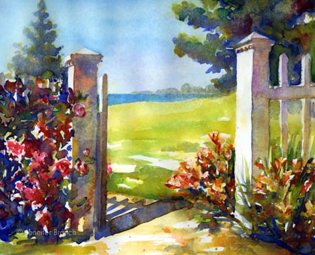 Garden Gate painting by Jennifer Branch