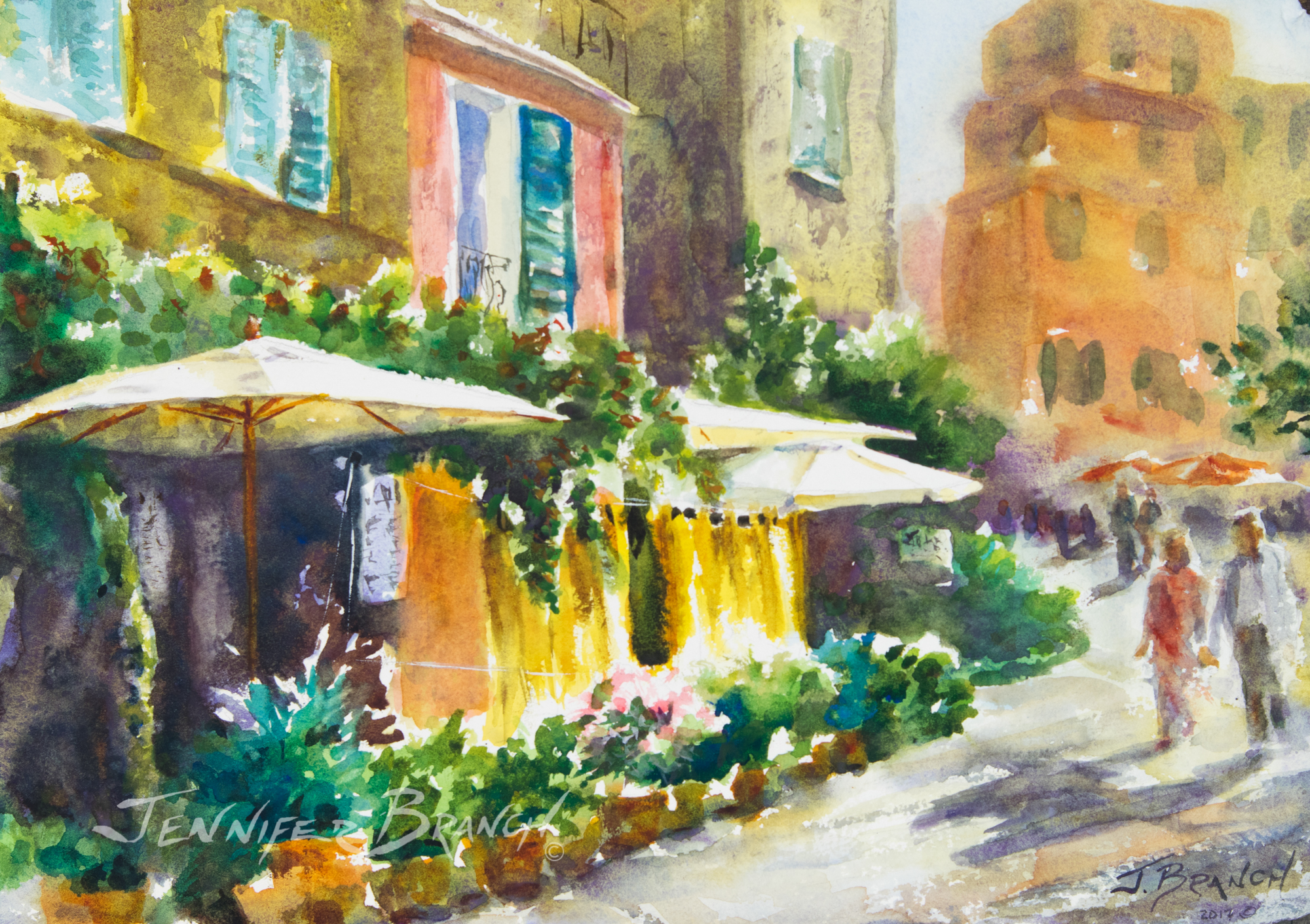 Italian Cafe Painting Tutorial Watercolor Painting tutorial