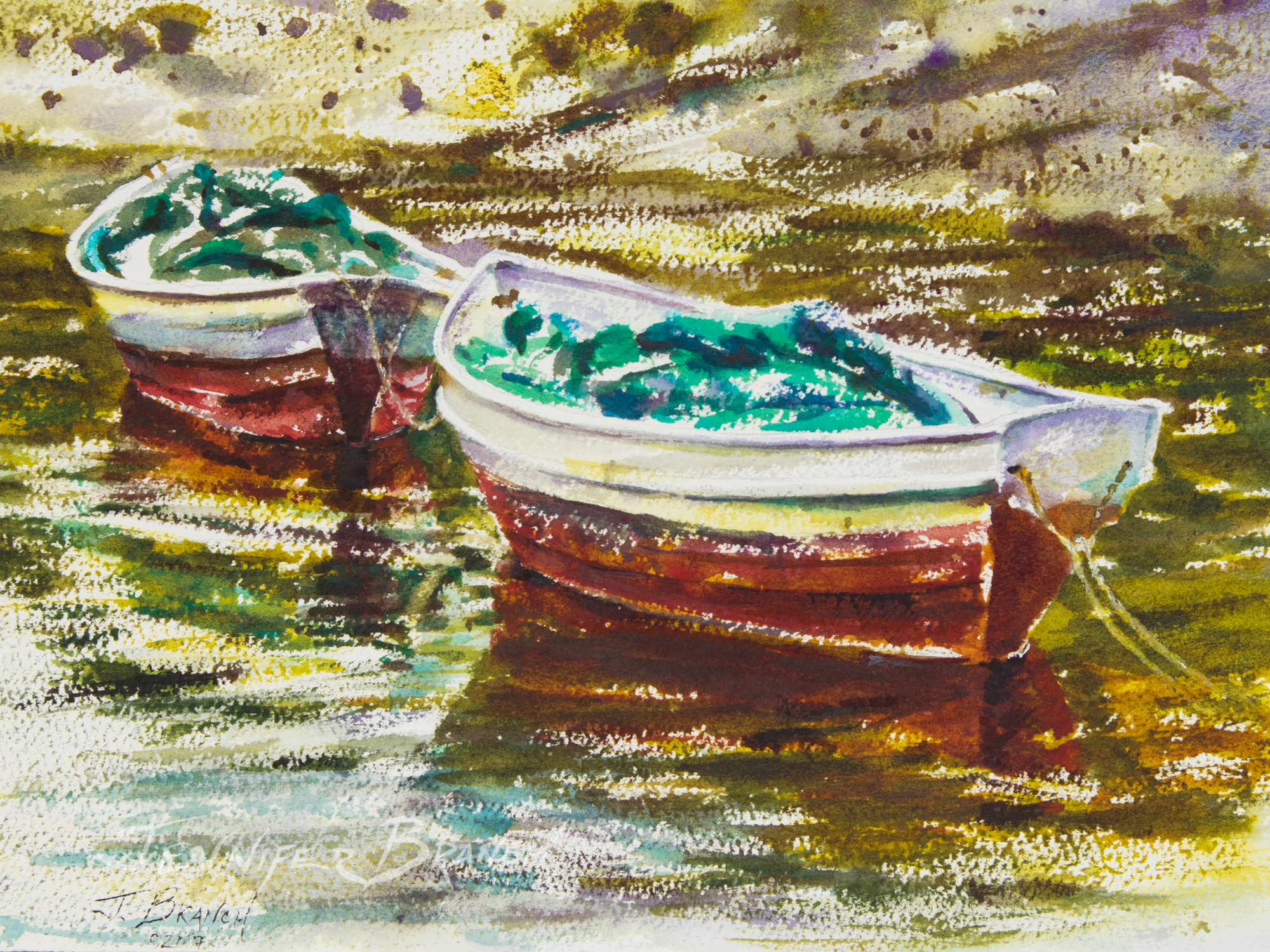 Painting Maine Dories Watercolor Painting demonstration