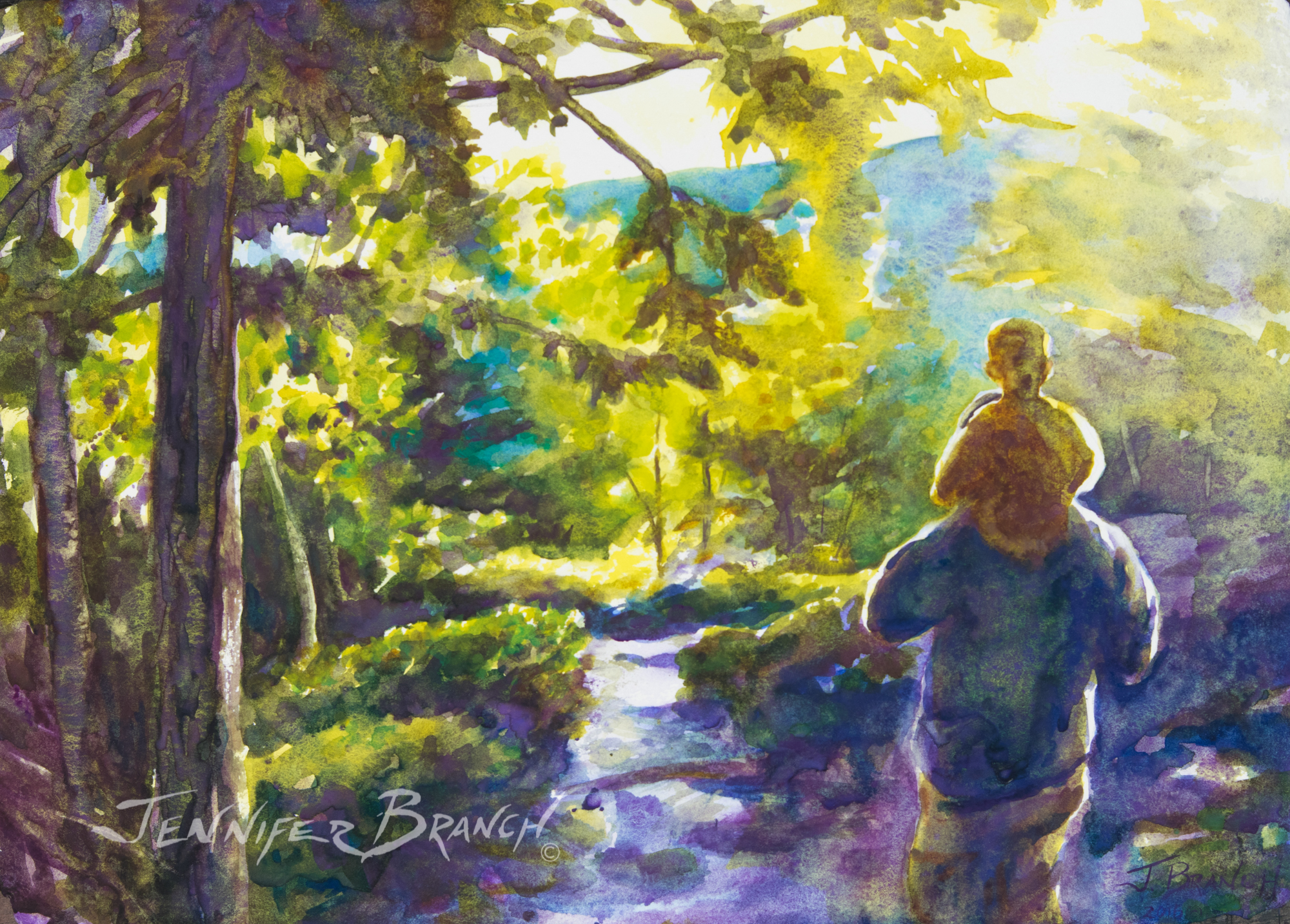 Maine Path watercolor painting tutorial