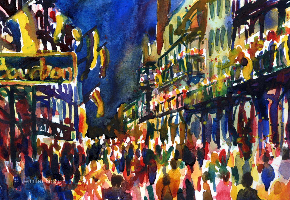New Orleans Mardi Gras painting