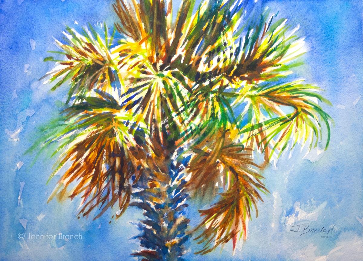 Charleston palm tree for Palm tree painting