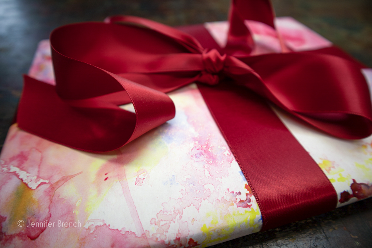 handpainted Party gift wrap