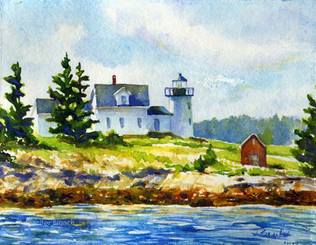 lighthouse painting by Jennifer Branch.