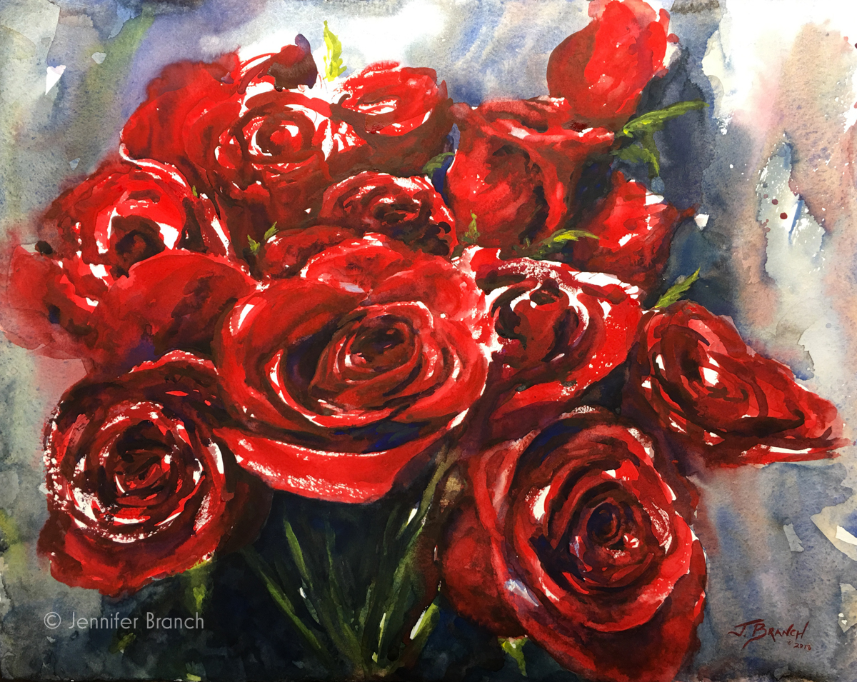 Gorgeous Red Roses Painting