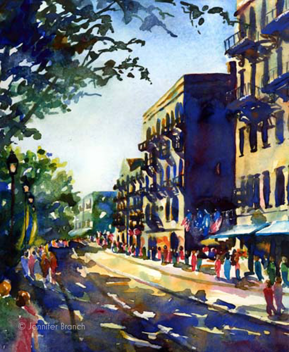 River Street Savannah painting
