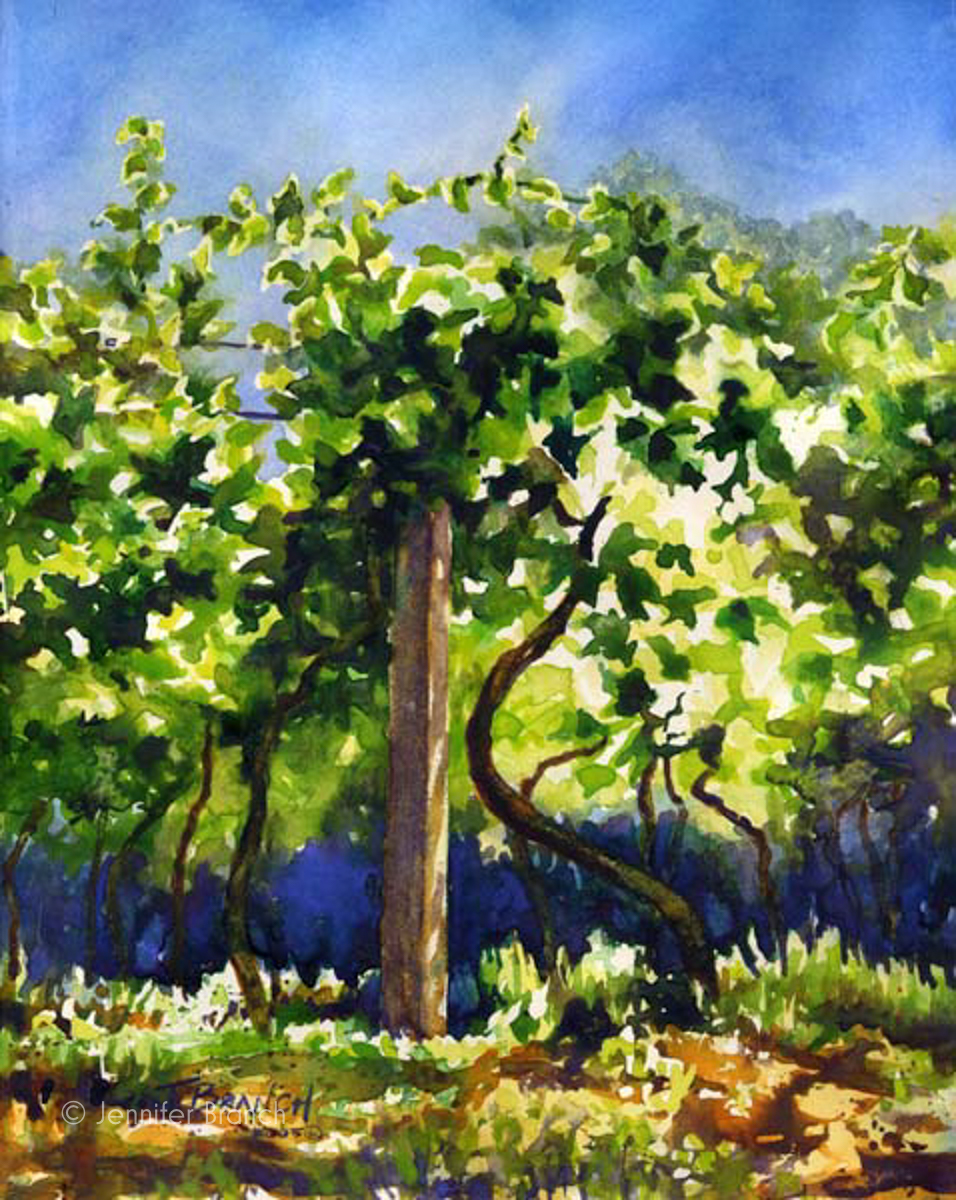 Soave, Italy vineyard painting
