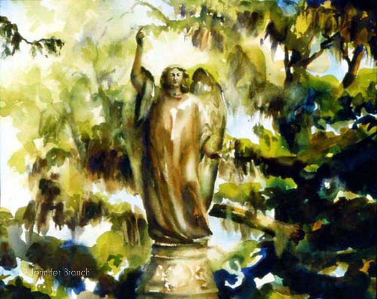 Stone Angel watercolor painting